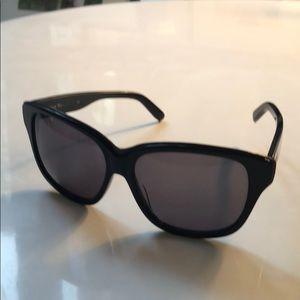 Navy/gunmetal Chloe sunglasses